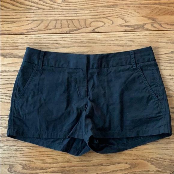 J. Crew Pants - J. Crew cotton black 2 inch shorts size 6